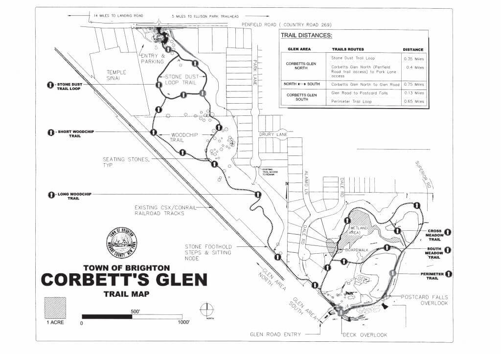 Town of Brighton Corbetts Glen Trail Map