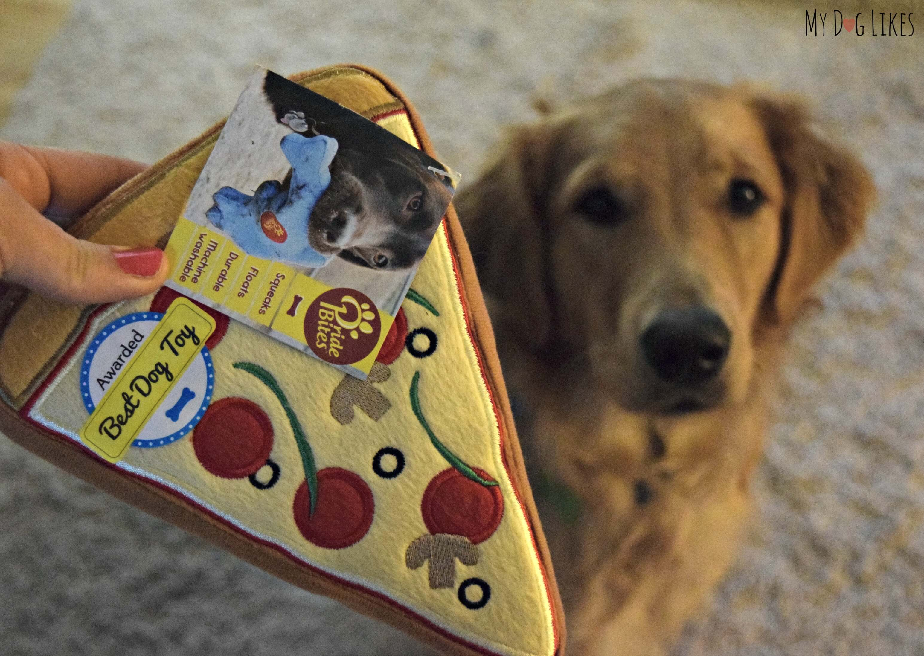 Pridebites Dog Toy Review - It's a Puppy Pizza-Palooza!