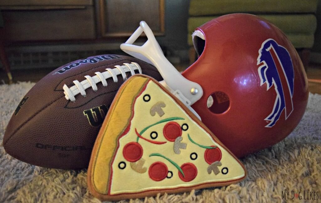 The perfect fall Sunday - Football and Pridebites Pizza!