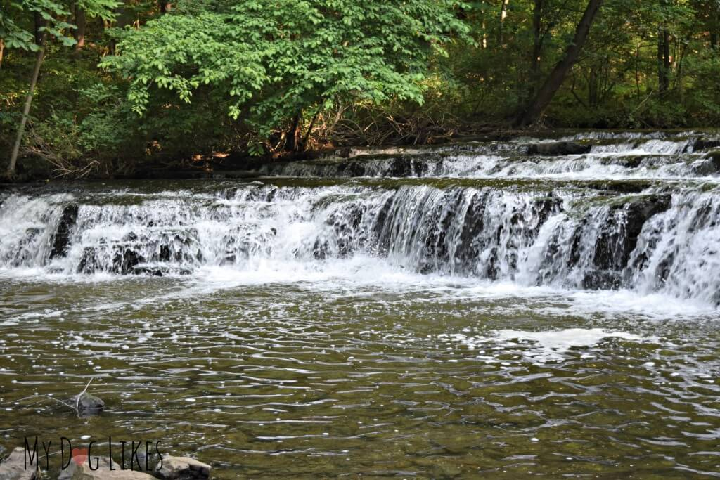 Postcard Falls at Corbett's Glen Nature Park in Rochester, NY