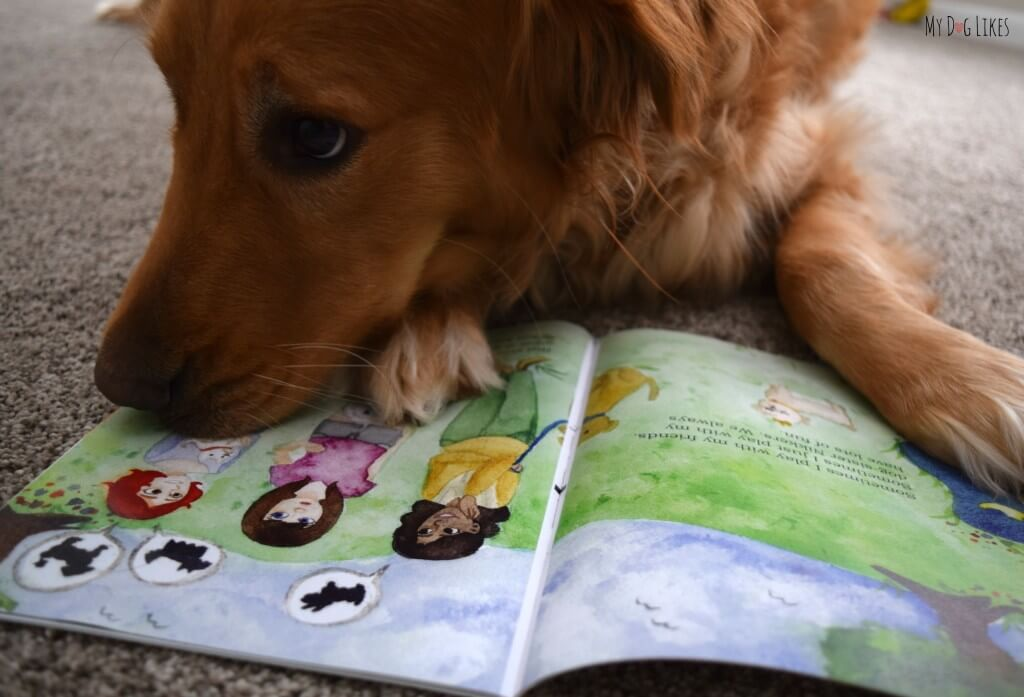 "Charlie trying to read ""What Kind of Dog Am I?"" Childrens Book About Dogs! Silly puppy!"