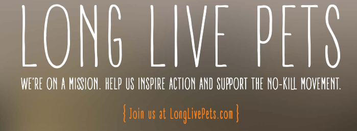 """Long Live Pets is an animal welfare campaign designed to """"inspire action and support the no-kill movement"""""""