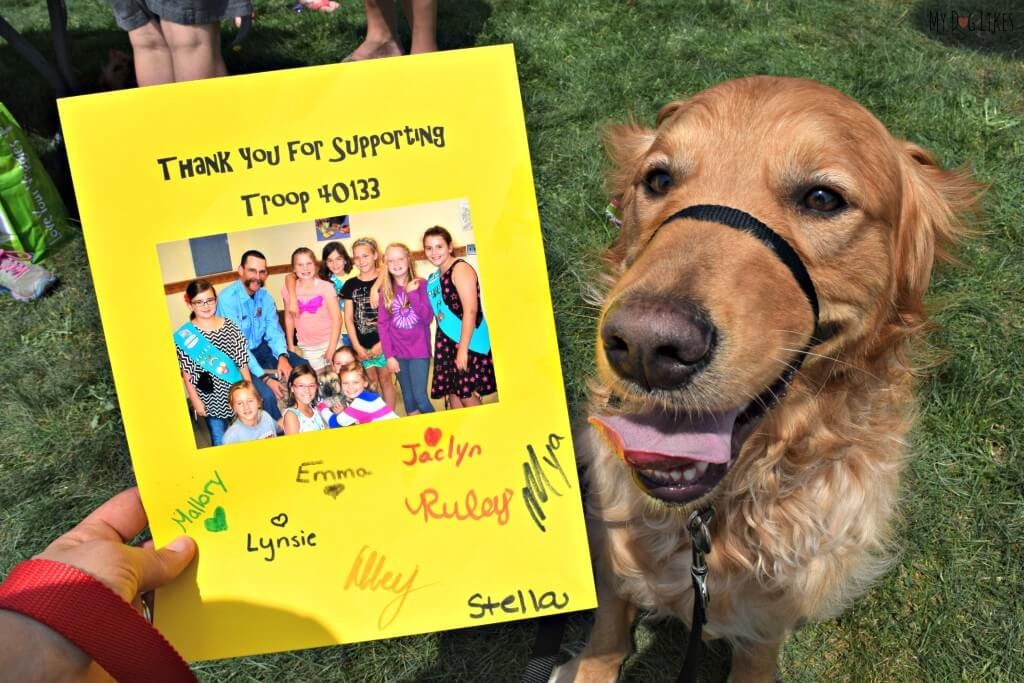 A very sweet thank you card from troop 40133 of the Girl Scouts of Western NY!