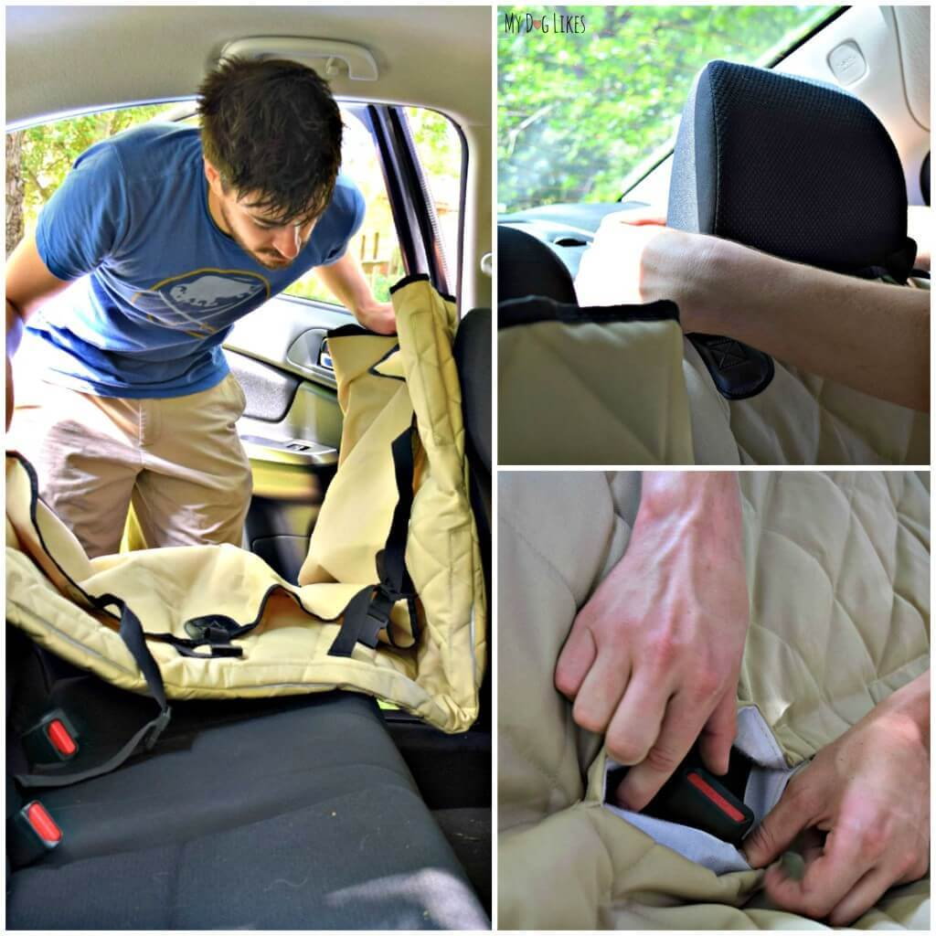 Installing a seat cover from 4Knines is simple and takes only a minute.