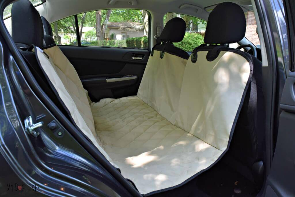 our brand new dog car hammock from 4knines installed in a subaru impreza 4knines seat cover review   protect your investment  rh   mydoglikes
