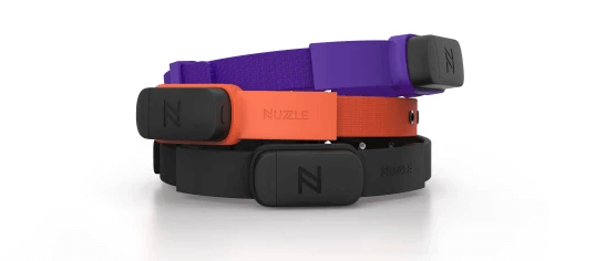 Nuzzle's dog tracking collars pair with a smartphone app to provide real-time data.
