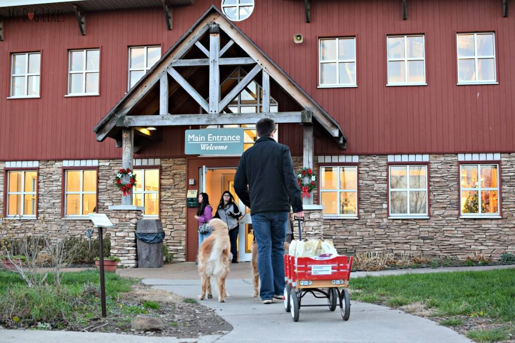 Dropping off our Tractor Supply donation at Lollypop Farm near Rochester, NY