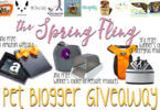 Spring Fling Pet Blogger Giveaway Banner
