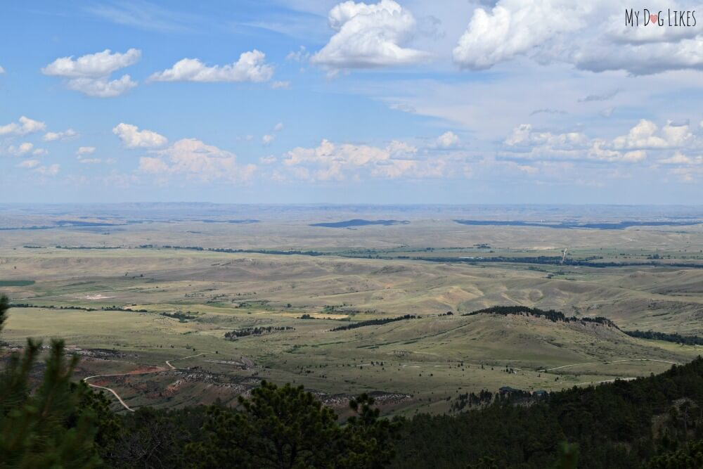 The gorgeous view looking East from atop the Bighorns
