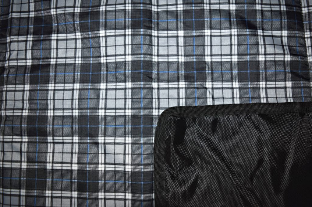 Available in several patterns including this blue tartan stripe