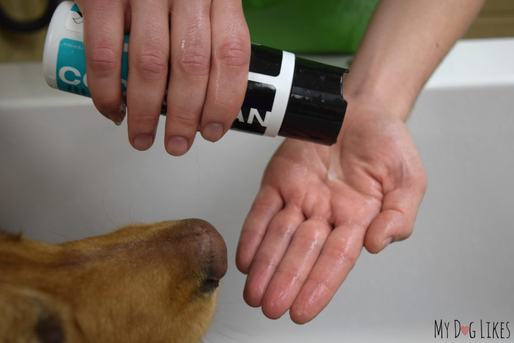 The entire Coco Clean line is infused with coconut oil which has been shown to be great for a dog's skin and coat