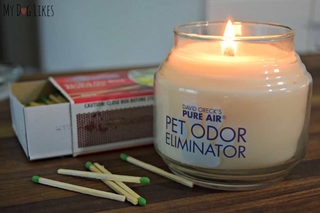 Testing out the Pure Air odor eliminating candle.