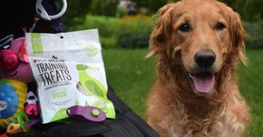 Dog training with Full Moon treats