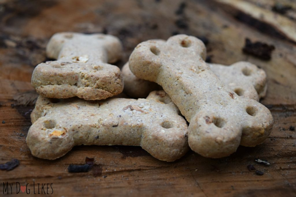 Closeup of Vita Bone Artisan dog treats